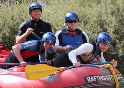 Over Left, learning how to raft