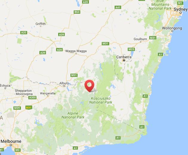 Rafting Australia Map
