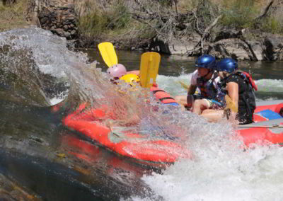 Wave surfing Lower Mitta River